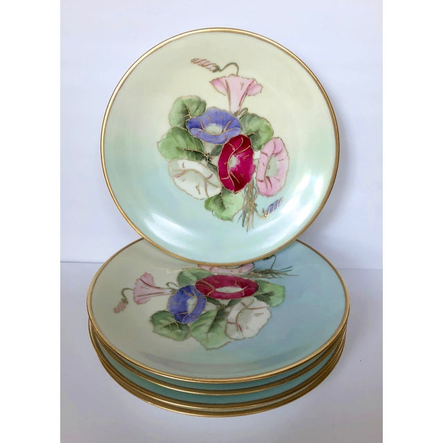 Antique, hand painted Limoges porcelain plates marked D & Co FRANCE. Made by Delinieres & Company – this marked was used...