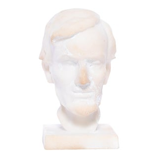 Vintage Marble Lincoln Bust For Sale