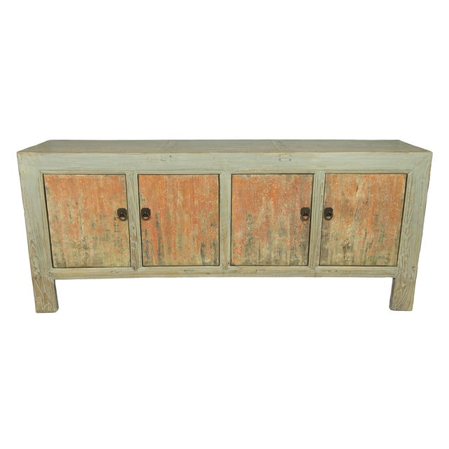 Distressed Chinese Sideboard - Image 1 of 3