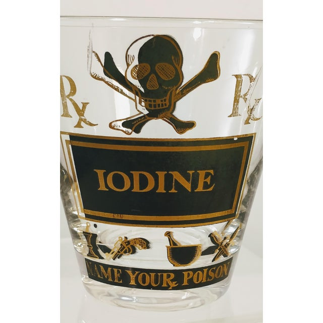 Mid-Century Modern Georges Briard Pick Your Poison Iodine Glass Tumbler Cocktail For Sale - Image 3 of 6
