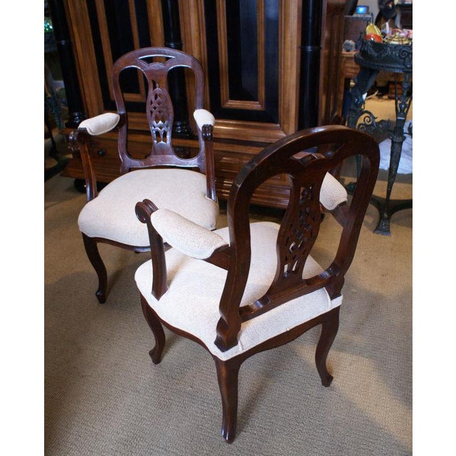 Italian 19th Century Italian Fruitwood Armchairs - a Pair For Sale - Image 3 of 4
