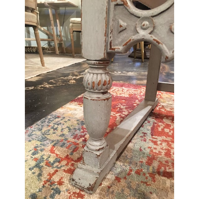Beige Late 19th Century Antique French Gray Blue Painted Chairs- a Pair For Sale - Image 8 of 13