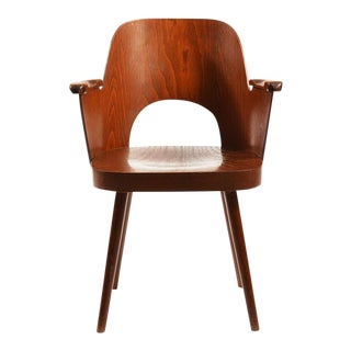 Mid-Century Armchair by Oswald Haerdtl for TON For Sale