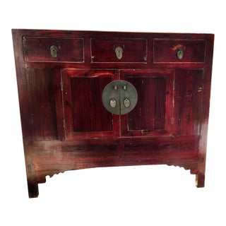 Antique Chinese Wood Cabinet For Sale