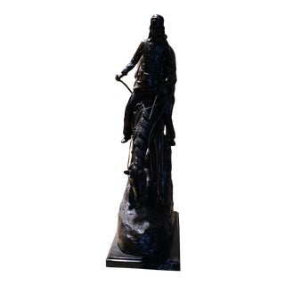 """Late 20th Century Remington """"The Mountain Man"""" Sculpture For Sale"""