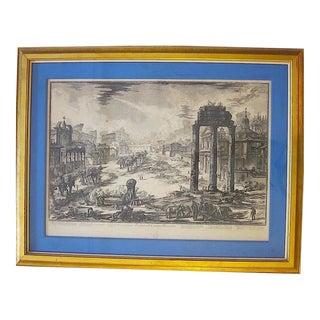 """""""Veduta DI Campo Vaccino"""" Framed Giovanni Piranesi Print For Sale"""