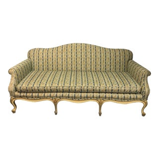 Vintage Mid Century Louis XV Settee For Sale