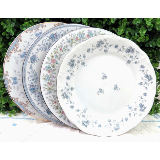 Vintage Mismatched Fine China Dinner Plates - Set of 4 - Image 7 of 8