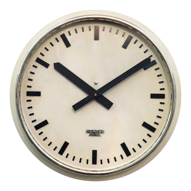 Austrian Factory Clock from Siemens, 1955 For Sale