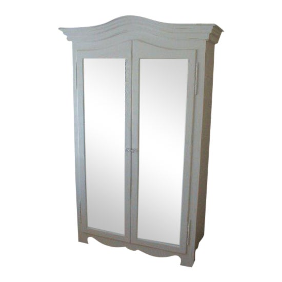 Grande French Mirrored Armoire - Image 1 of 3