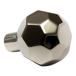 Facet-02L Polished Nickel Knob For Sale