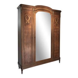1920s Louis XVI Style 3-Door Armoire For Sale