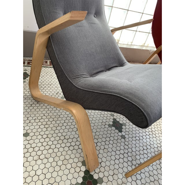"Gray Vintage Eero Saarinen Model 61 ""Grasshopper"" Chair + Ottoman - 2 Pieces For Sale - Image 8 of 10"