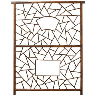 A. Rudin Chinese Carved Lattice Panel For Sale