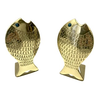 Batsheva Israel Modernist Fish Bookends