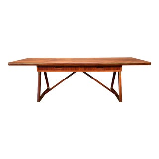 Vintage Danish Mid Century Modern Teak Geometrical Coffee Table For Sale