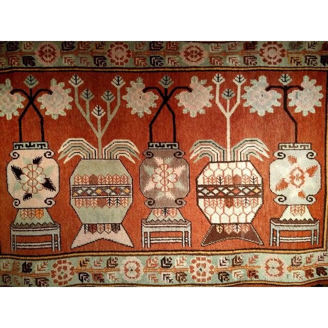 Vintage Khotan Vase Carpet - 5′ × 8′ For Sale - Image 11 of 13
