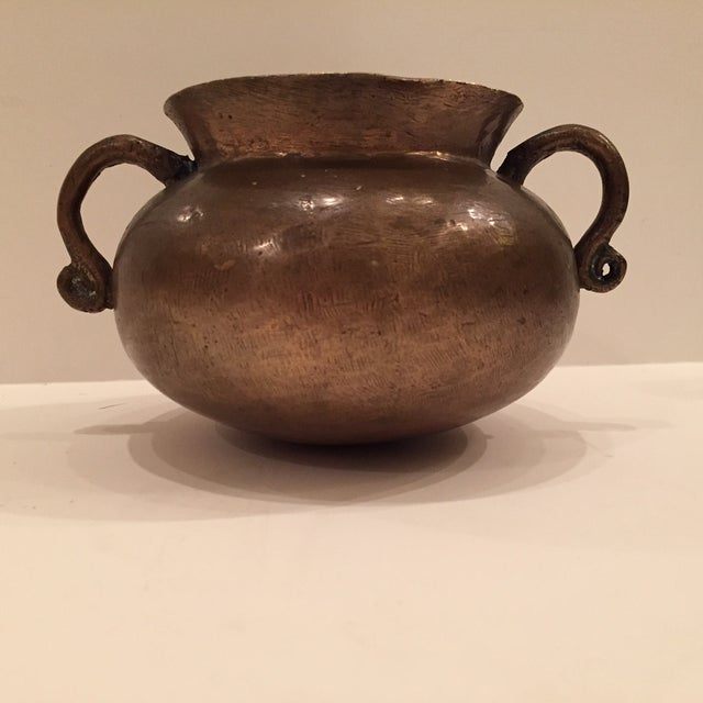 Rustic 16th Century Bronze Drinking Vessel For Sale - Image 3 of 8