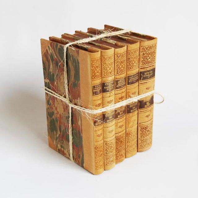 Vintage Leather Bound Book Bundle - Image 3 of 4