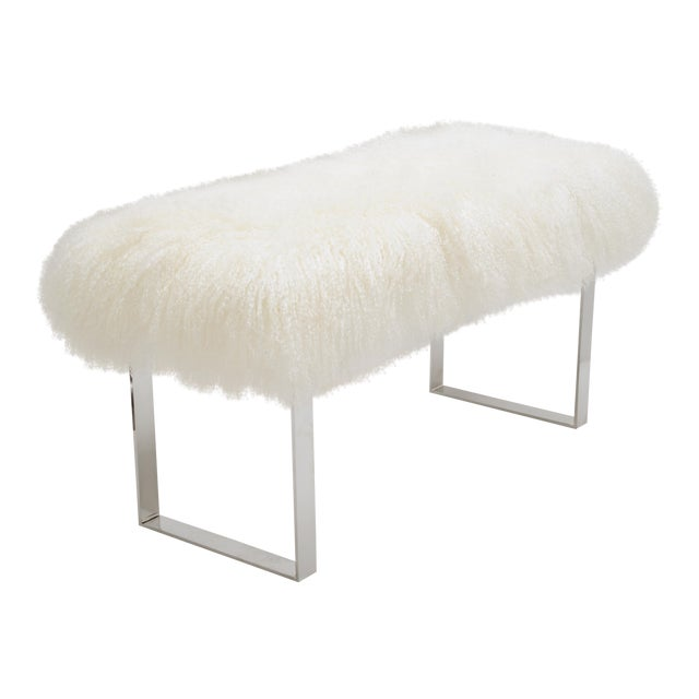 Skinny Curly BeBe Bright White Bench For Sale