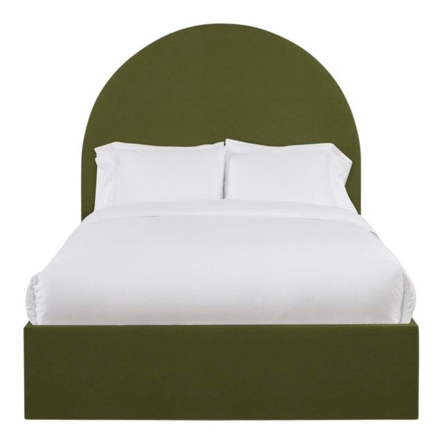 This listing is for the headboard only, and does not include the bedframe with the purchase. From Chairish's line of...