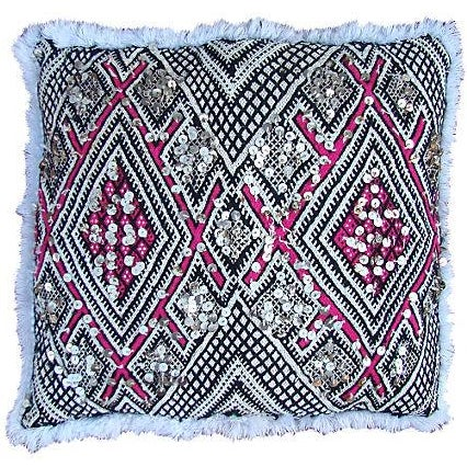 Pink & White Moroccan Sham For Sale