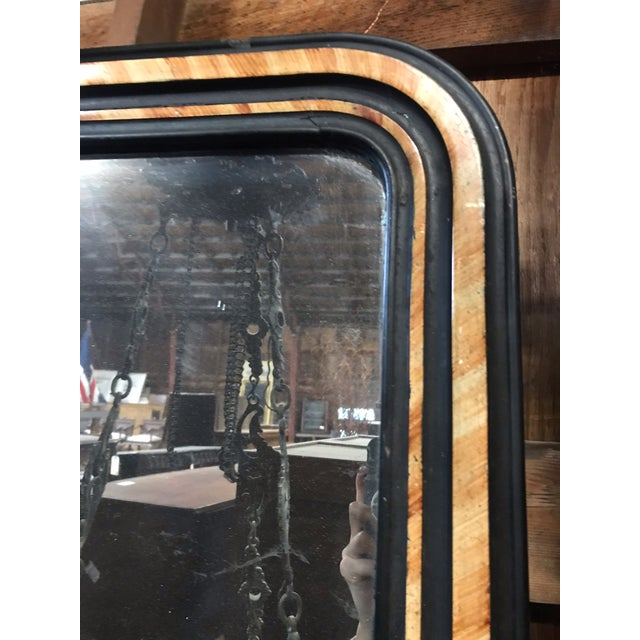French Faux Painted Mirror With Original Glass For Sale - Image 9 of 10