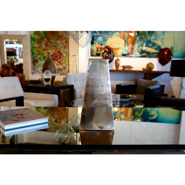 Modern James Johnston Brass Modernist Vase For Sale - Image 3 of 8
