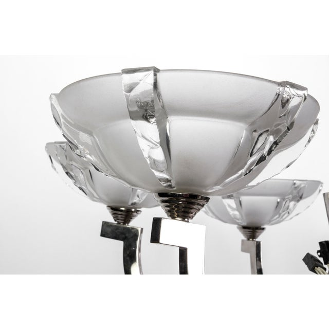 Art Deco Ernest Sabino French Art Deco Chandelier For Sale - Image 3 of 5