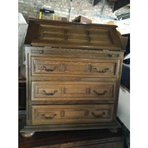 Vintage Roll Top Desk With Lock & Key - Image 2 of 7