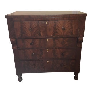 Antique Flame Mahogany Chest of Drawers