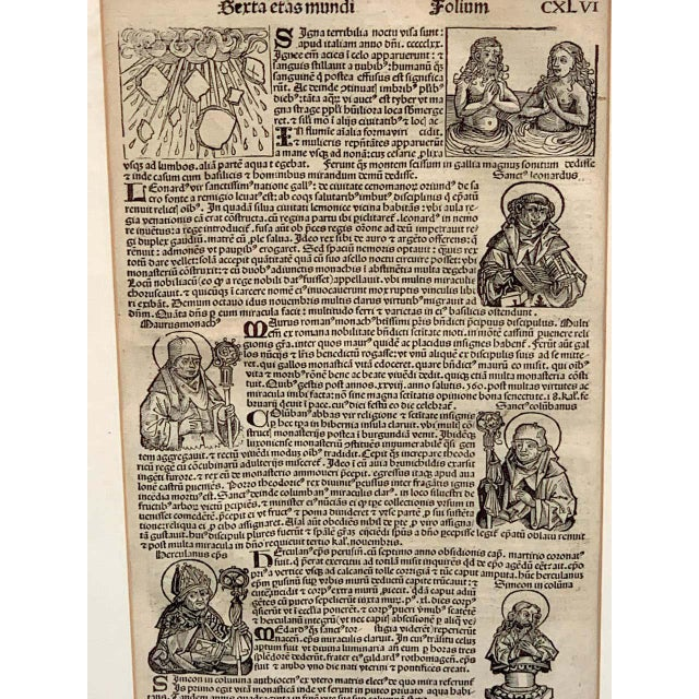 Renaissance 'World Chronicle', 1st Edition, by Schedel & Wolgemut, Nurnberg, 1493 For Sale - Image 3 of 13