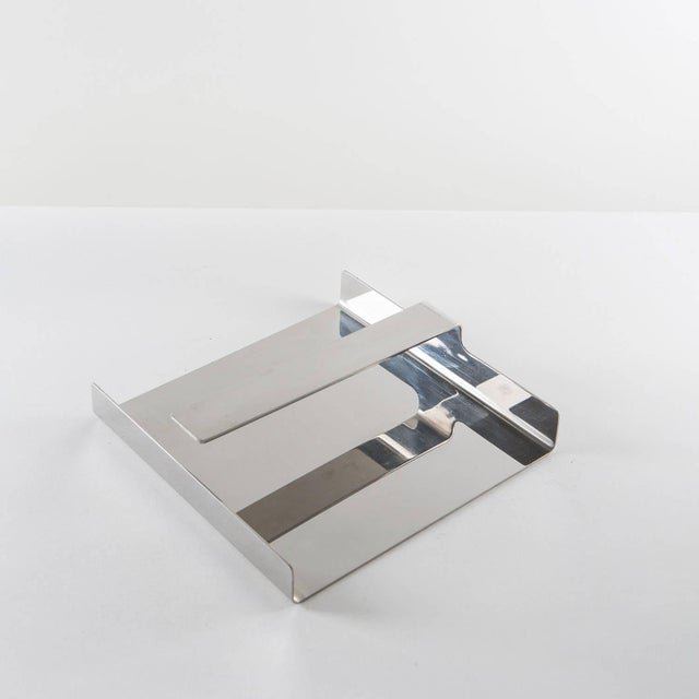 1970s Set of Two Steel Desk Pieces by Mazza Gramigna for Krupp For Sale - Image 5 of 10