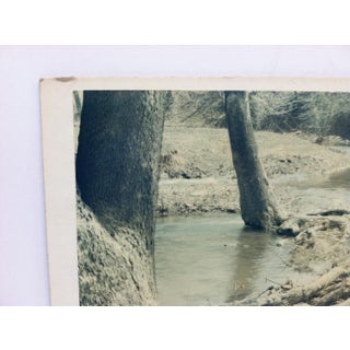 """Original Mounted Black & White Photograph, """"The Stream"""" by George Poellot Preview"""