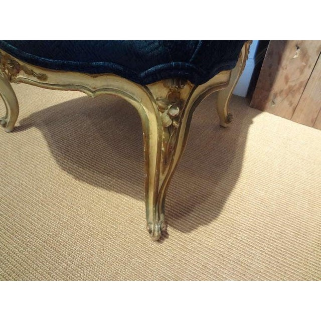 1920's French Louis XV Style Painted and Gilt Wood Chair For Sale - Image 4 of 8
