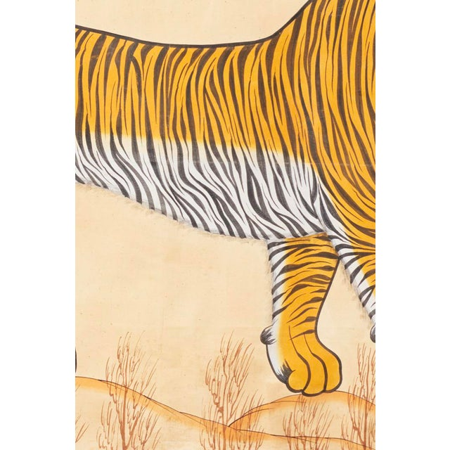 1980s 1980s Tiger Painting For Sale - Image 5 of 6