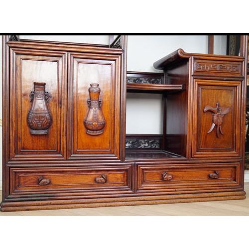 Hand Crafted Rosewood Bookshelf - Image 4 of 6