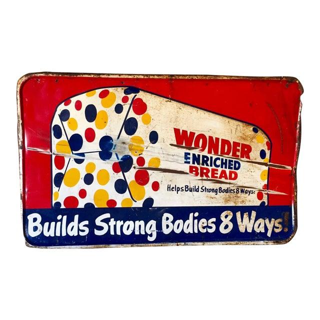 Vintage Original Wonder Bread Sign - Image 1 of 8