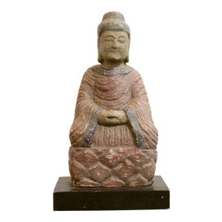 Vintage Stone Buddha Statue For Sale