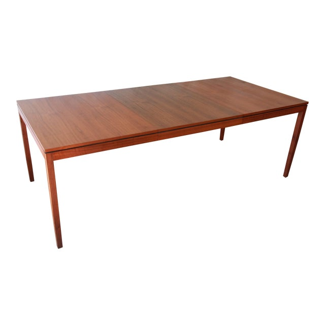 1957 Vintage Florence Knoll for Knoll International Walnut Extension Dining Table - Image 1 of 10