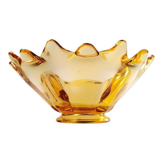 Vintage Amber Glass Bowl - Image 1 of 5
