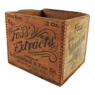 1910s Americana Wood Vanilla Box
