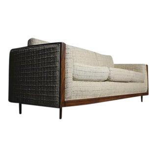 Mid-Century Walnut Framed Sofa