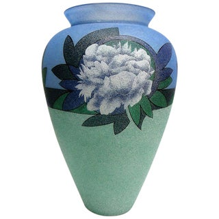 Biancalani Elio Glass Grit Vase From Florence, Italy For Sale