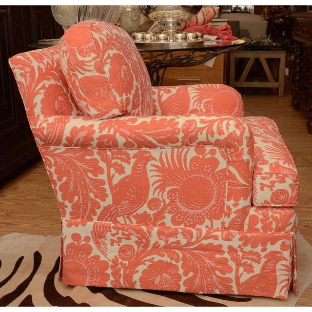 Classic English Style Club Chair in Scalamandre - Image 2 of 6