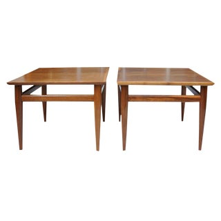 20th Century Danish Modern Heritage Square Side Tables - a Pair For Sale