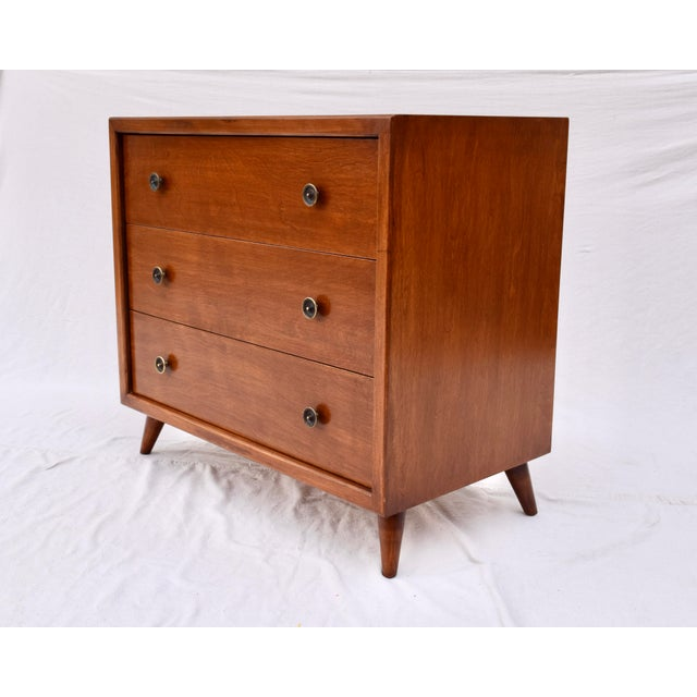 Mid 20th Century 1950's John Stuart Bachelor Chests, Pair For Sale - Image 5 of 12