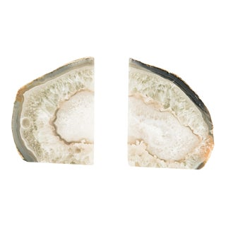 Natural Geode Bookends- A Pair For Sale