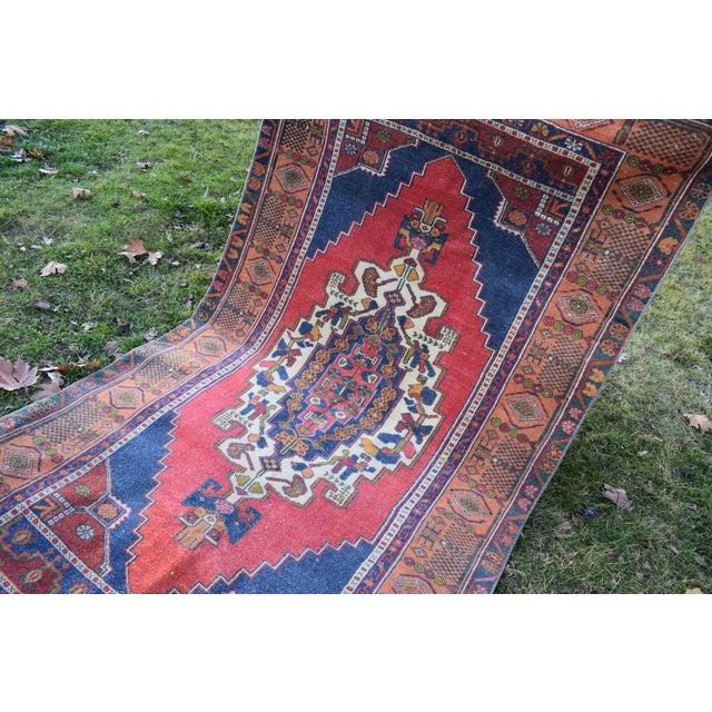 Vintage Red Turkish Taspinar Rug 4'3'' X 7'10'' For Sale - Image 9 of 12
