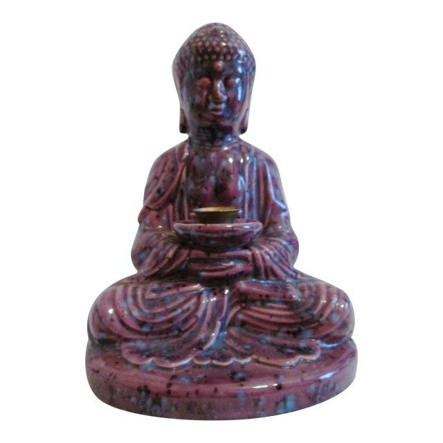 Mid-Century Dripglaze Ceramic Buddha Incense - Image 1 of 9